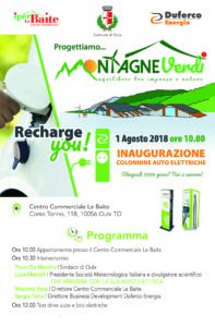 Invito inaugurazione colonnine elettriche